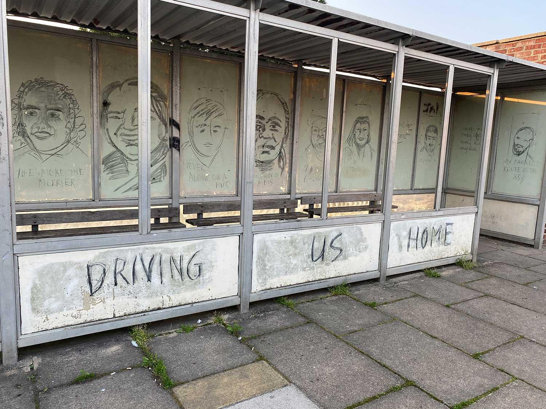 The Portrait Challenge At Bridport Bus Station