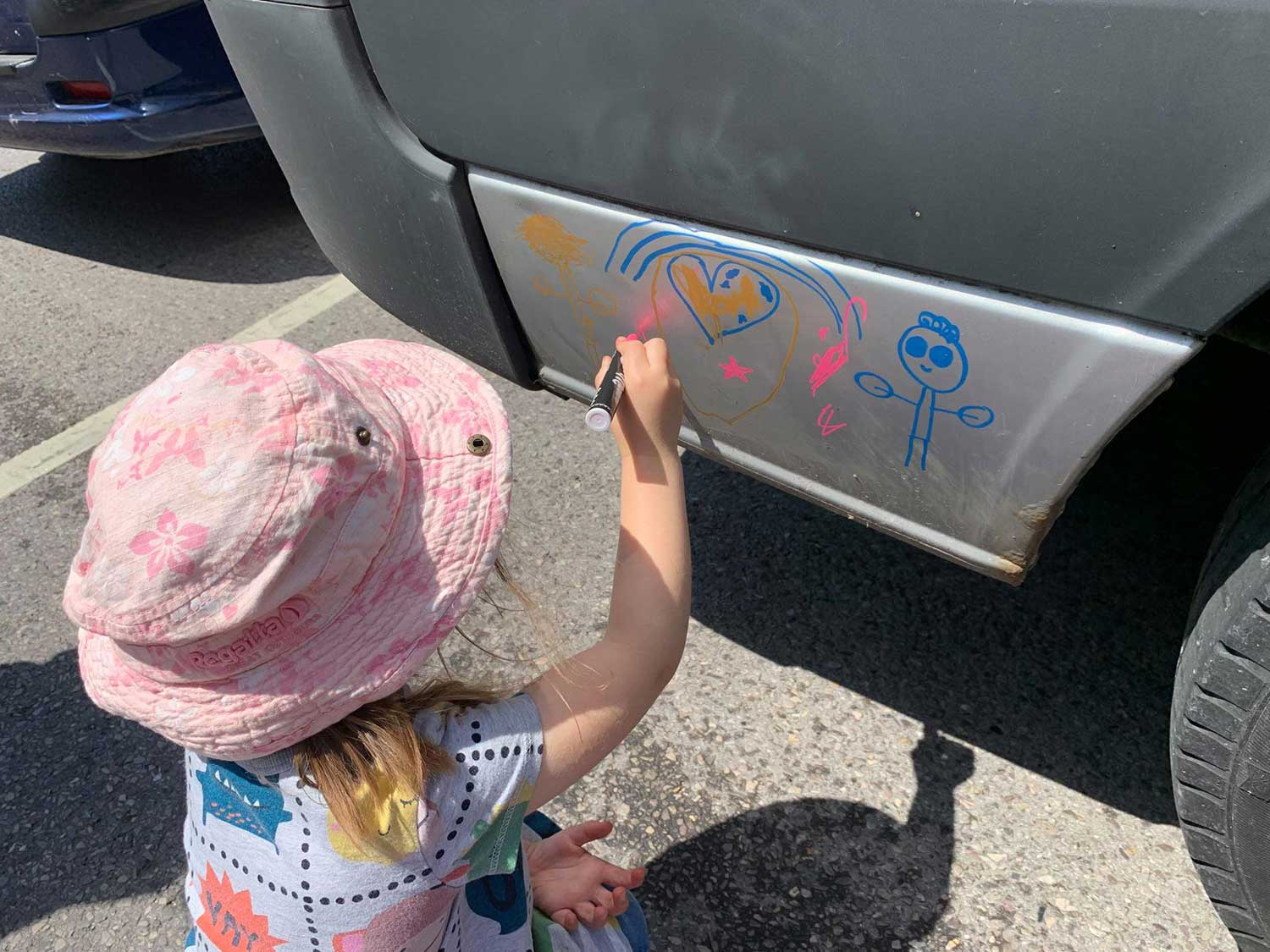 Right Up Your Street - Drawing On The Van